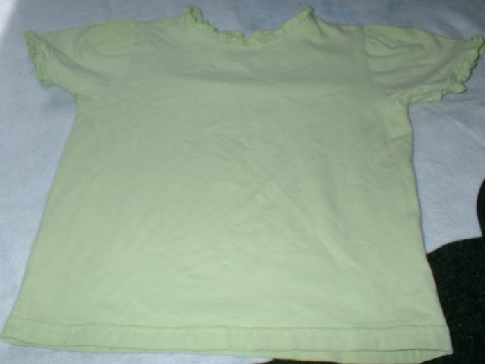 Girls Green Spring Summer Keyhole Top 3T