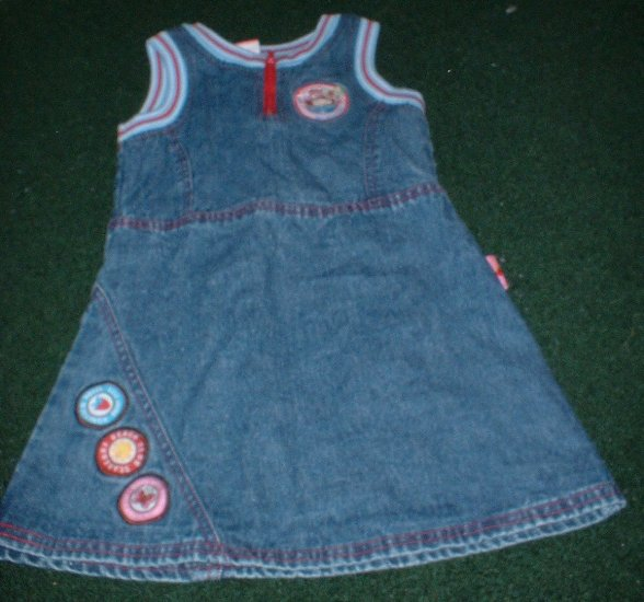 Girls Strawberry Shortcake Denim Dress Size 4