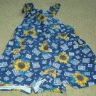 Girls 2T Sunflower Print Shortalls VGC