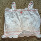 Girls White Embroidered Halter Top 2T
