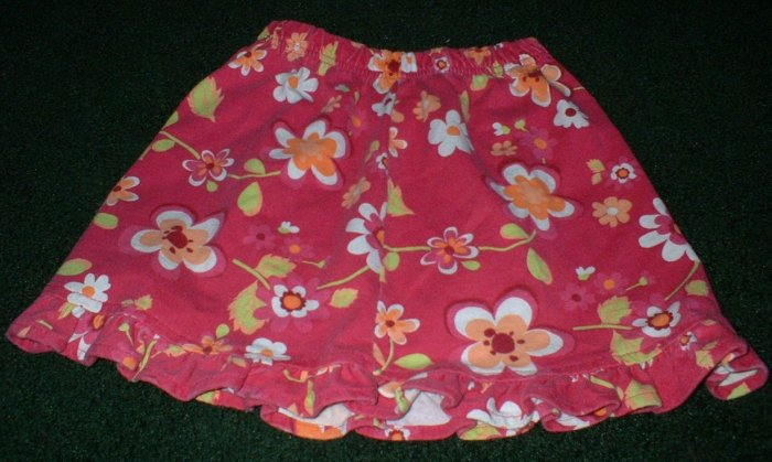 Girls Flowered Skirt with Ruffle 4T