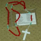 NIP Red & Mint Green Rosary Free Shipping