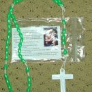 NIP Lime Green Rosary Free Shipping