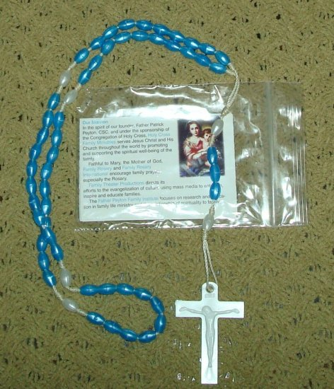 NIP Cerulean & Pearl Rosary Free Shipping