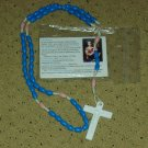 NIP Blue & Dusty Rose Rosary Free Shipping
