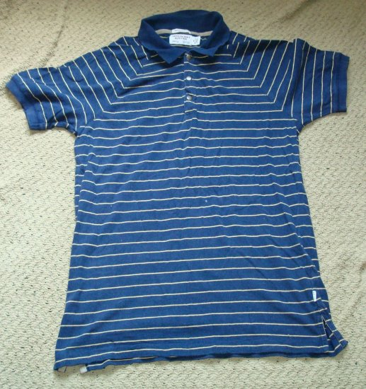 American Eagle Navy Vintage Slim Fit Polo Shirt size Small