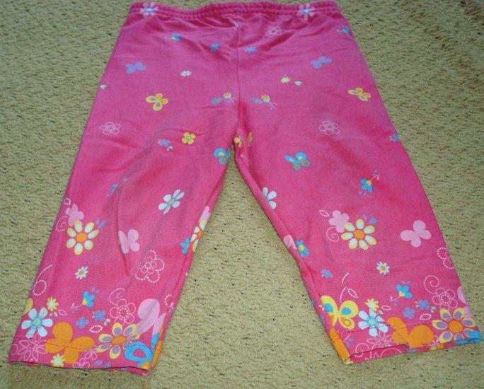Girls Pink Print Capris 3T