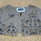 Girls Bolero Jacket Shrug Green Vine Print Size 4