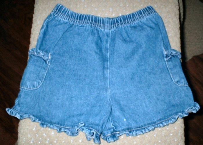 Denim Ruffle Shorts 3T