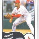 Albert Pujols 2003 Bazooka baseball card Cardinals