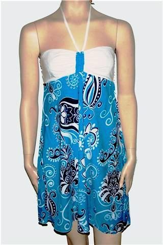 BALI DRESS MIKONOS CASHMIRA BLUE
