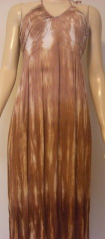 BALI LONG DRESS FIJI BROWN