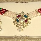 Red, Green, & White Choker