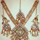 Pink Rhinestone Jewerly Set