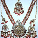 Burgundy Rhinestone Jewerly Set