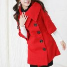 Korean Fashion Wholesale [E2-1087] Coat - Red - Size L