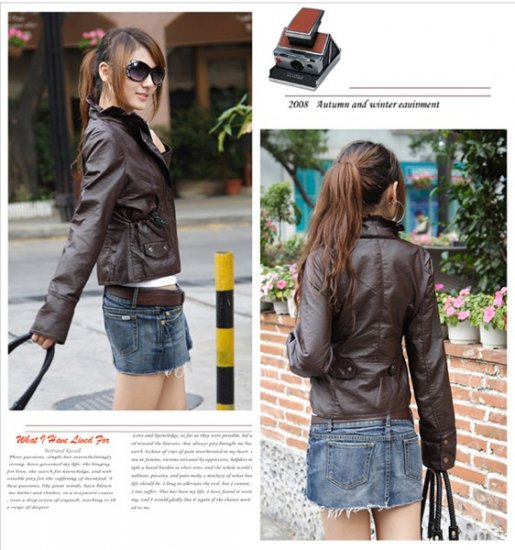 Korean Fashion Wholesale [B2-1591] Jacket - Coffee