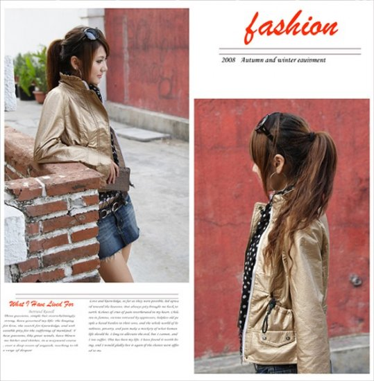 Korean Fashion Wholesale [B2-1591] Jacket - Beige