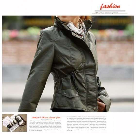 Korean Fashion Wholesale [B2-1591] Jacket - Green