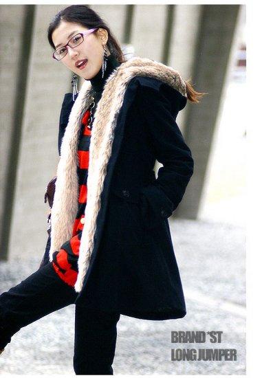 Korean Fashion Wholesale [E2-1001] Coat - Black