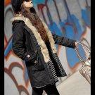 Korean Fashion Wholesale [C2-7002] Coat - Black - Size M