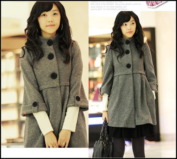 Korean Fashion Wholesale [B2-6181] Coat - Gray - Size M