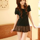 Korean Fashion Wholesale [C2-2509] Pretty short dress - Black