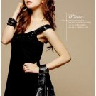 Korean Fashion Wholesale [B2-8903] Sparkling Sequined Dress - Black