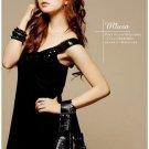 Korean Fashion Wholesale [B2-8903] Sparkling Sequined Dress - Black