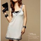 Korean Fashion Wholesale [B2-8903] Sparkling Sequined Dress - Cream
