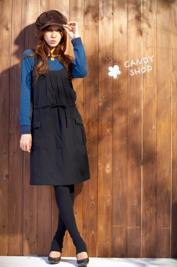 Korean Fashion Wholesale [B2-1231] Pretty Black Dress