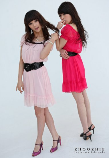 Korean Fashion Wholesale [B2-8819] SUPER Pretty Dress - light pink
