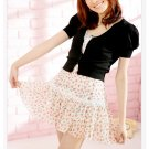 Korean Fashion Wholesale [B2-1296] Innocent Chiffon Dress - White Multi