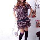 Korean Fashion Wholesale [B2-3606] Fun Short Chiffon Dress