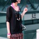 Korean Fashion Wholesale [C2-6009] Cute Shirt + Ruffle Skirt Dress - Black