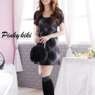 Korean Fashion Wholesale [B2-6271] Romantic Plaid Dress