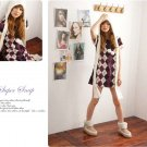 Korean Fashion Wholesale [B2-1601] Fun Plaid Dress - Purple