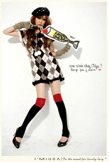 Korean Fashion Wholesale [B2-1601] Fun Plaid Dress - Gray