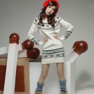 Korean Fashion Wholesale [C2-116] Cute Sweater Dress - White