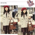 Korean Fashion Wholesale [B2-2018] Luxurious Jacket Coat - White - Size M