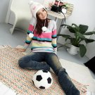 Korean Fashion Wholesale [C2-117] Cute&Warm Colorful Sweater - Gray multi
