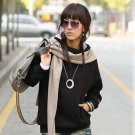Korean Fashion Wholesale [E2-1106] Warm Hoodie - Black