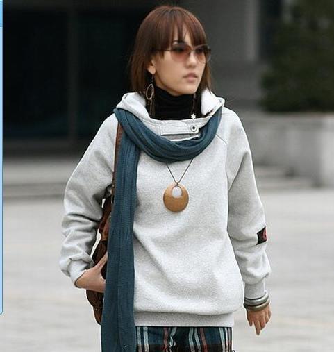 Korean Fashion Wholesale [E2-1106] Warm Hoodie - white