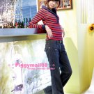 Korean Fashion Wholesale [B2-6227] Stylish Pants - Navy- Size M