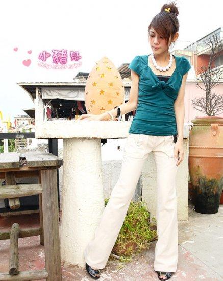 Korean Fashion Wholesale [B2-6227] Stylish Pants - White- Size L