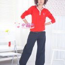 Korean Fashion Wholesale [B2-6248] Fashionable Baggy Pants - Navy- Size M