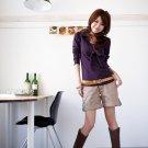 Korean Fashion Wholesale [B2-6219] Stylish Shorts - Beige - Size L