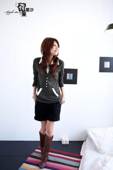 Korean Fashion Wholesale [B2-6219] Stylish Shorts - Black - Size L