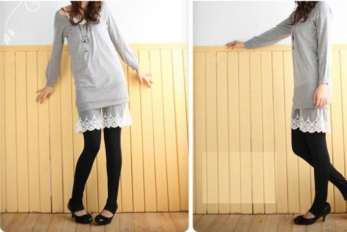 Korean Fashion Wholesale [E2-1062] Cute Slim-fit Stir-up Leggings - Classic black