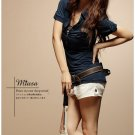 Korean Fashion Wholesale [B2-8924] Cute POLO Sporty Shirt - Navy